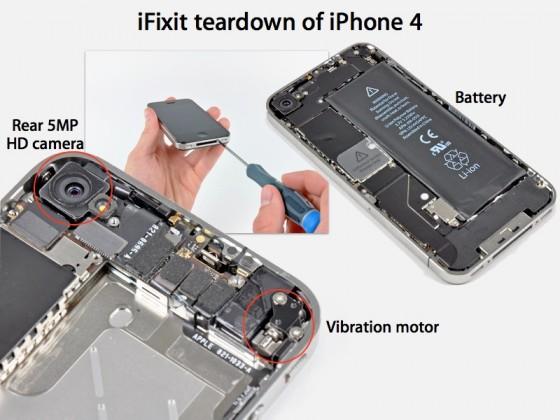 despiece iphone 4